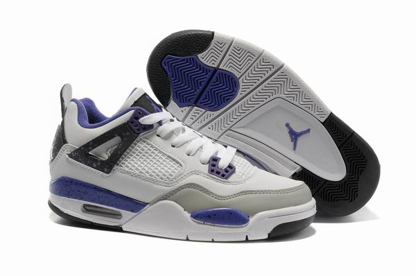 Womens Air Jordan 4 Shoes Blue/Light gray